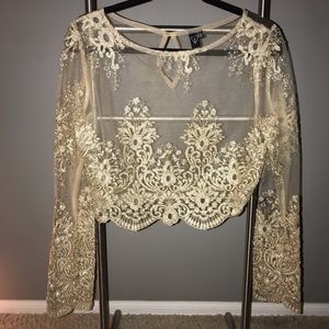 Windsor Gold Long Sleeve Elegant Top
